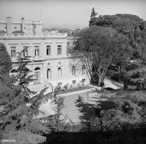 Villa Wolkonsky, residence of the British Ambassador, Via Ludovico di Savoia, Rome, Italy, 1958. Villa Wolkonsky was used for 25 years following...