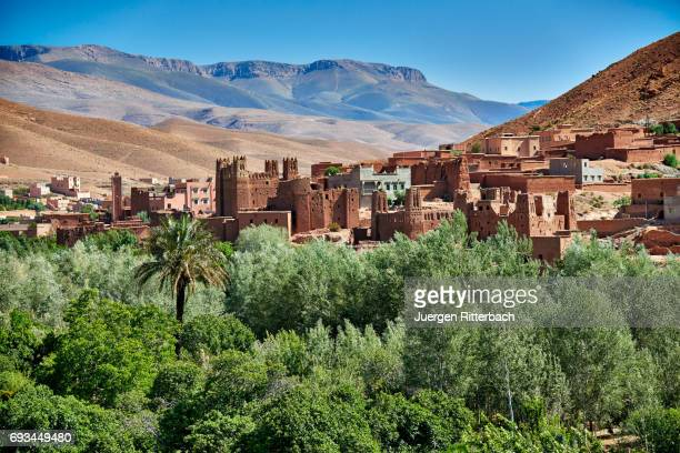 village Ait Ouglif in High Atlas mountain range