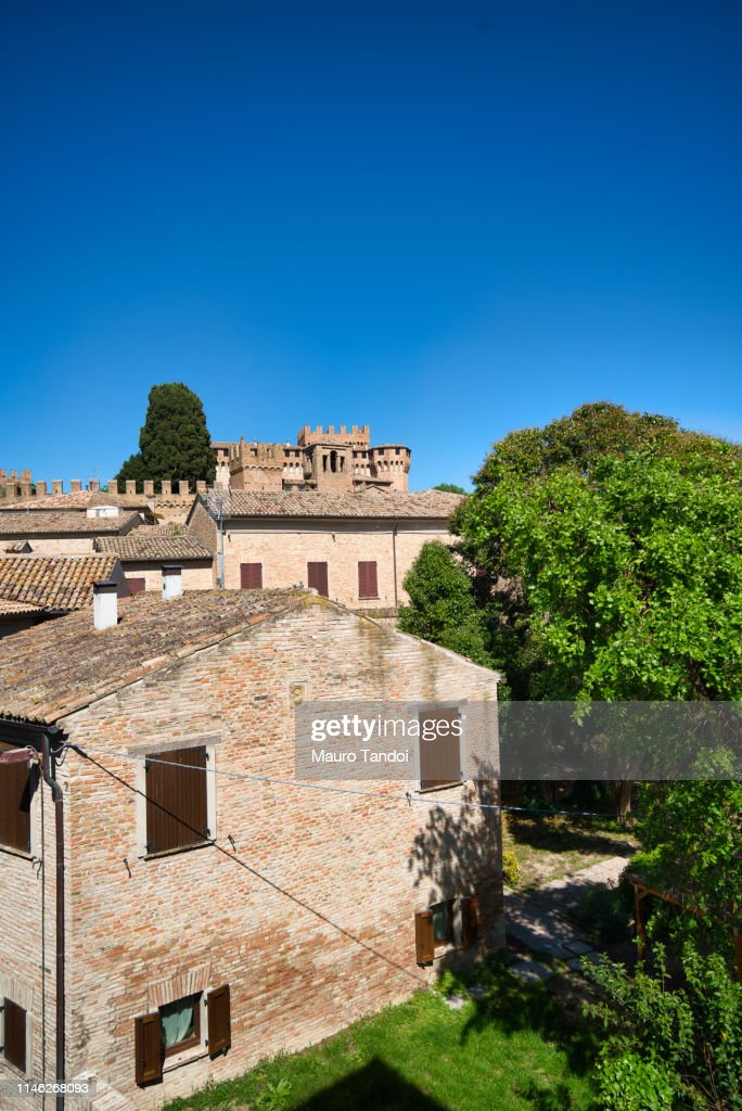 Village and Castle of Gradara, Marche : Foto stock
