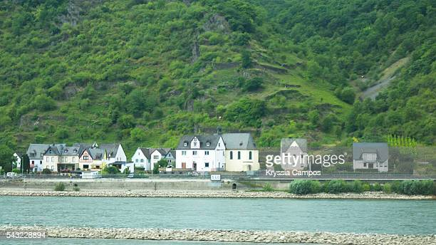 village at east side of rhine river, germany - mid section stock photos and pictures