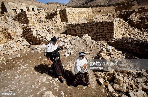 Village Caykoey at the turkish syrian border. The village was destroyed in 1992/1993 by the turkish army. Villagers come back step by step.