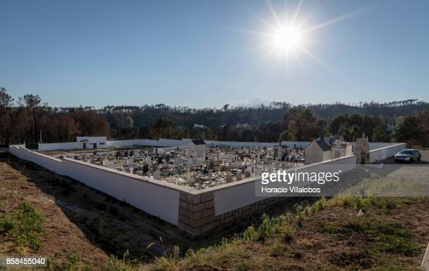 Village cemetery four months after the forest fire on October 06 2017 in Vila Facaia Portugal Pedrogao Grande municipality suffered the death of at...