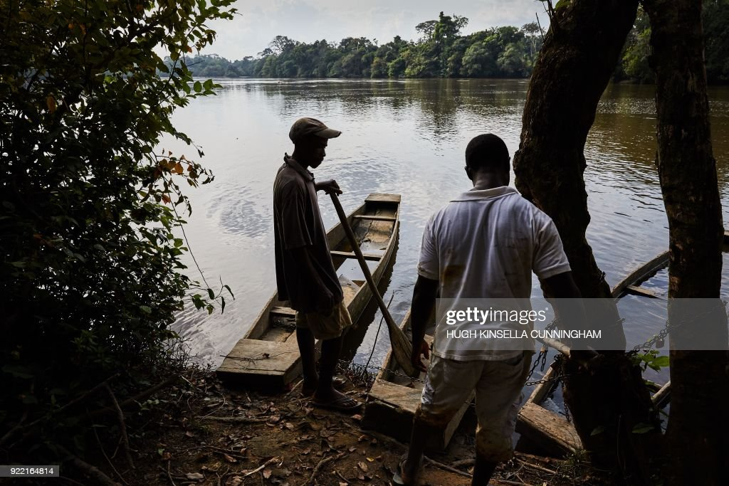 Village chief of Mawah, fisherman and Ebola survivor, Morris M. Freeman, (34) poses on Saint Paul River bank on November 29, 2017. The devastating effect of Ebola on Liberia's fragile health system may have killed more people than the virus itself, a new study says, many of them pregnant women and malaria patients. The West African nation was the worst-hit by the haemorrhagic virus during the 2014-16 outbreak, leaving 4,800 dead and thousands more with lingering symptoms. PHOTO / Hugh Kinsella Cunningham
