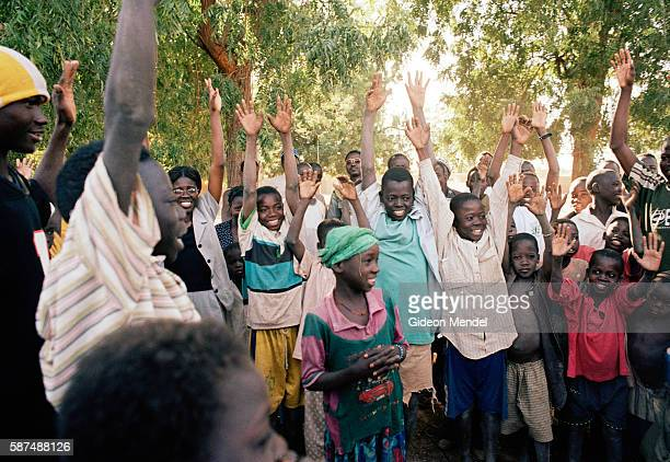 Village children participate in a workshop conducted by a nongovernmental organisation based in the capital of Ouagadougou The ChildtoChild approach...