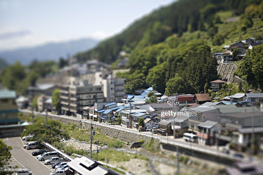 Village, elevated view : Bildbanksbilder