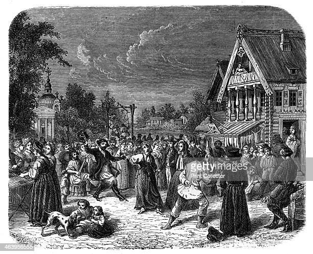 A village fete in Russia c1890 An engraving from Robert Brown's The Countries of the World published by Cassell