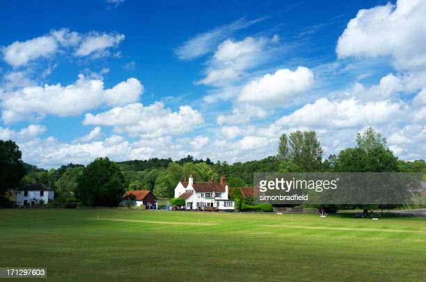 village green cricket - surrey england stock pictures, royalty-free photos & images