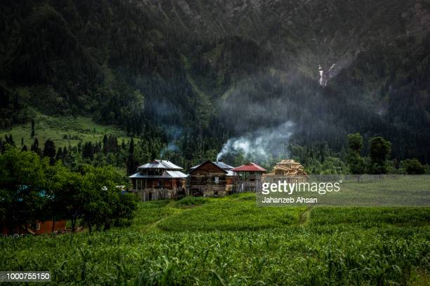 Village High in Mountains