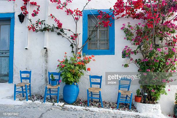 village house on the island of kos greece - greece stock photos and pictures