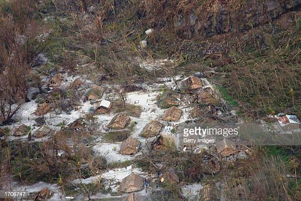 Village huts are shown on the remote island of Tikopia January 2 2003 which is part of the Temotu Province of the Solomon Islands Approximately 3700...
