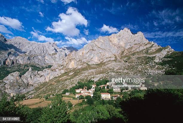 Village in Cordinanes de Valdeon Mountains