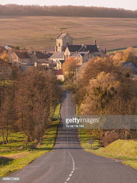 A village in French champagne region