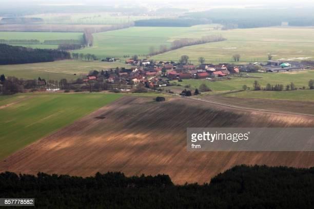 Village in Germany - aerial view (Schönhagen/ Brandenburg/ Germany)