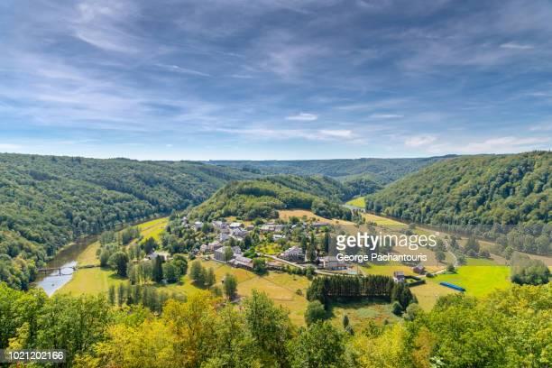 Village in green valley