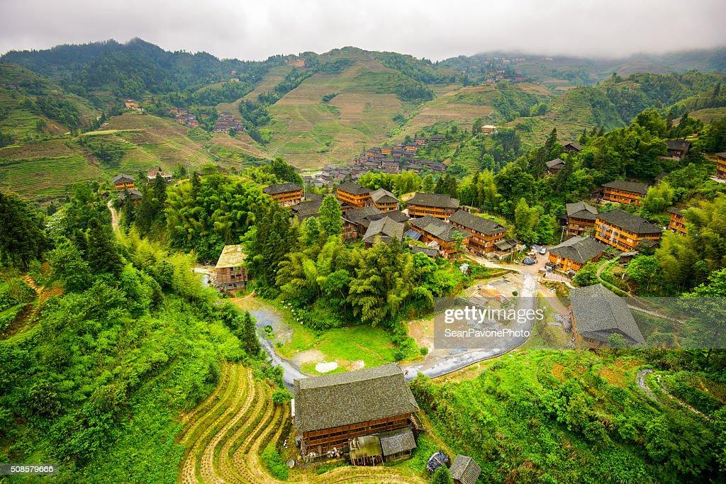 Villaggio di Guilin : Foto stock