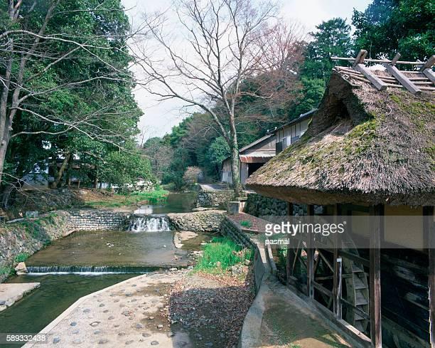 village in musashi, mimasaka, okayama prefecture, japan - präfektur okayama stock-fotos und bilder