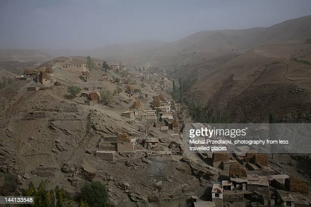 village in raghestan district - badakhshan stock photos and pictures