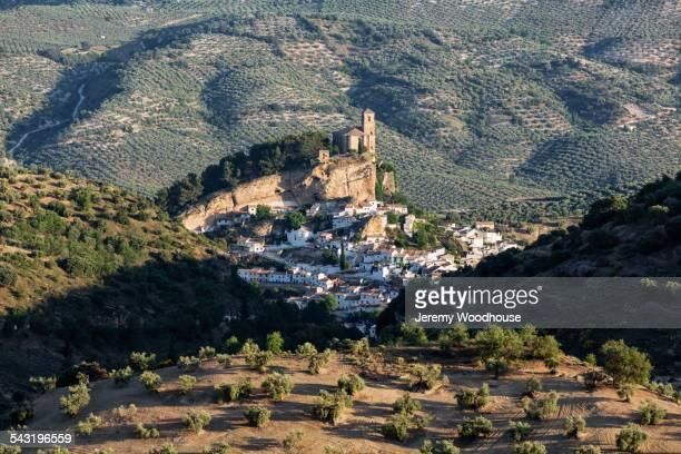 Village in remote landscape, Montefrio, Andalusia, Spain