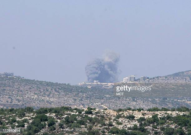 A village in southern Lebanon is hit by an Israeli airstrike on Saturday August 5 2006