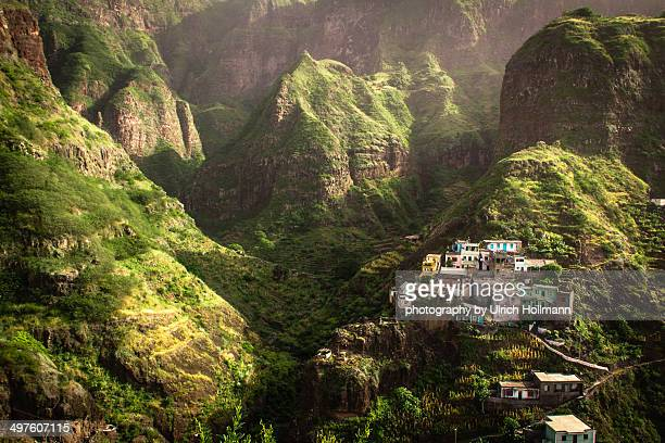 Village in the mountains, Fontainhas, Cape Verde,