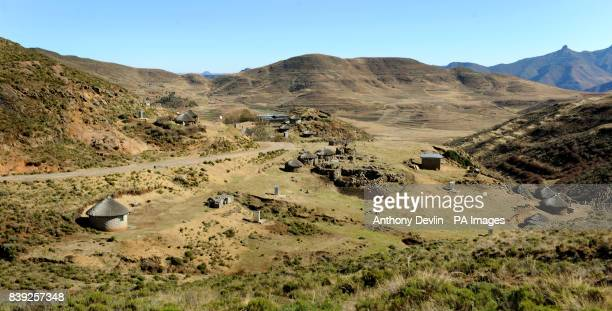 Village in the mountains near Semongkong, Lesotho