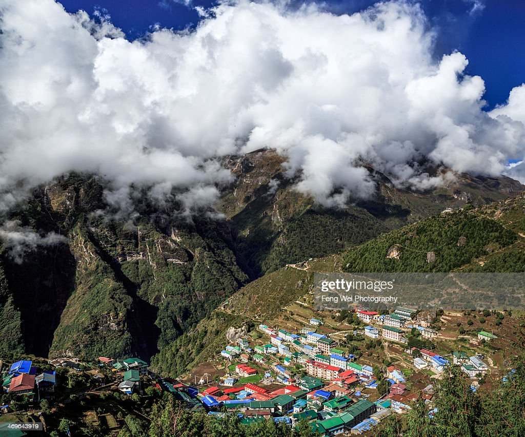 Village in the mountains : Stock Photo