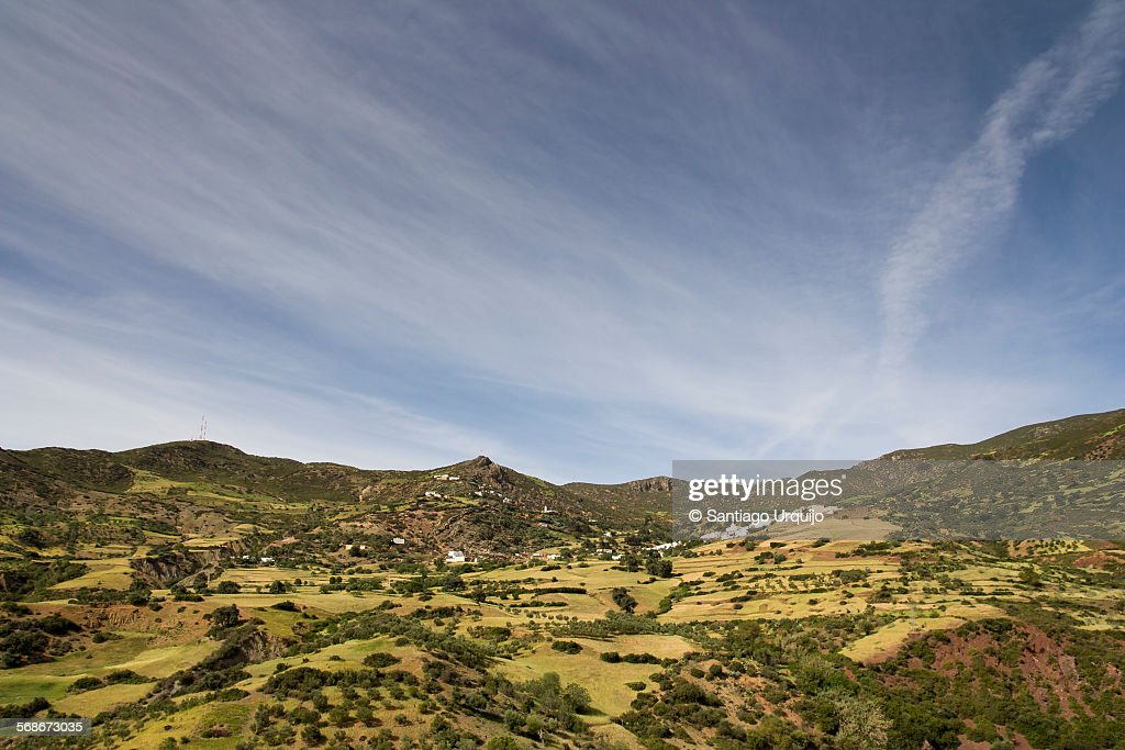 Village in the Rif Mountains : Stock Photo