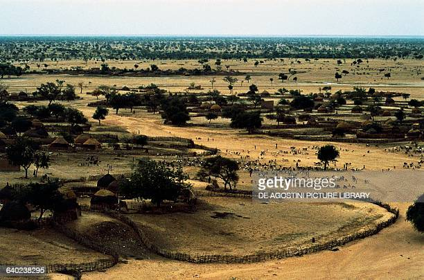 Village in the Wadi Azaouak area Sahel Niger