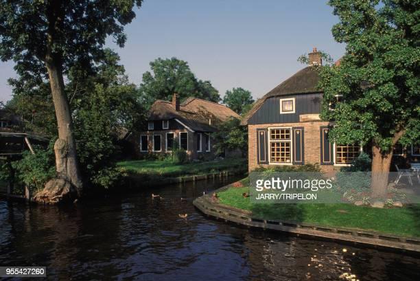 Village lacustre de Giethoorn, Pays-Bas.