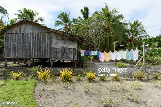 village laundry - solomon islands stock pictures, royalty-free photos & images