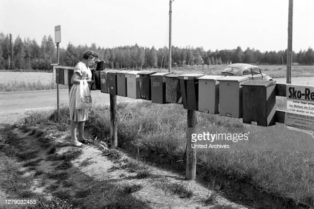 Village mailboxes, Sweden, 1969.