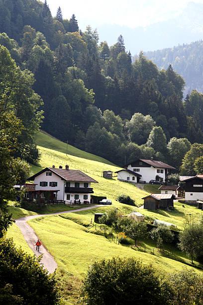Village near Partnachklamm gorge.