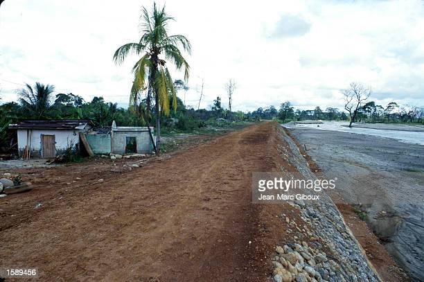 A village near San Pedro Sula Honduras stands deserted October 1999 one year after Hurricane Mitch delivered devastating floods to the region New...