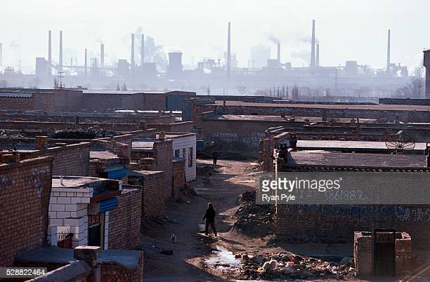 A village near the Bao Steel mill in Baotou Inner Mongolia China Baotou is an excellent example of a oneindustry town and that industry is steel...