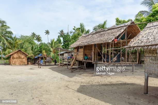 village neigbors - solomon islands stock pictures, royalty-free photos & images