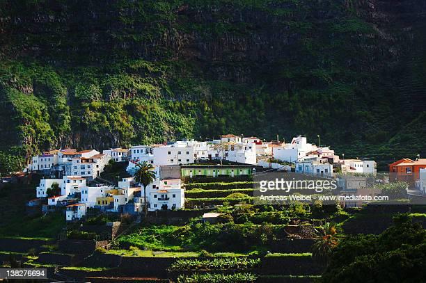 Village of Agulo illuminated