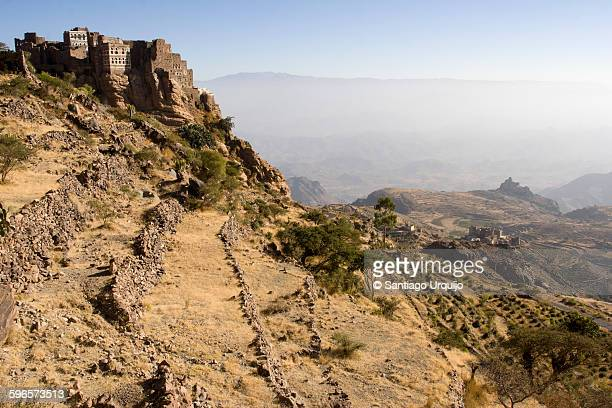 village of akamaht al kadi - terraced field stock pictures, royalty-free photos & images