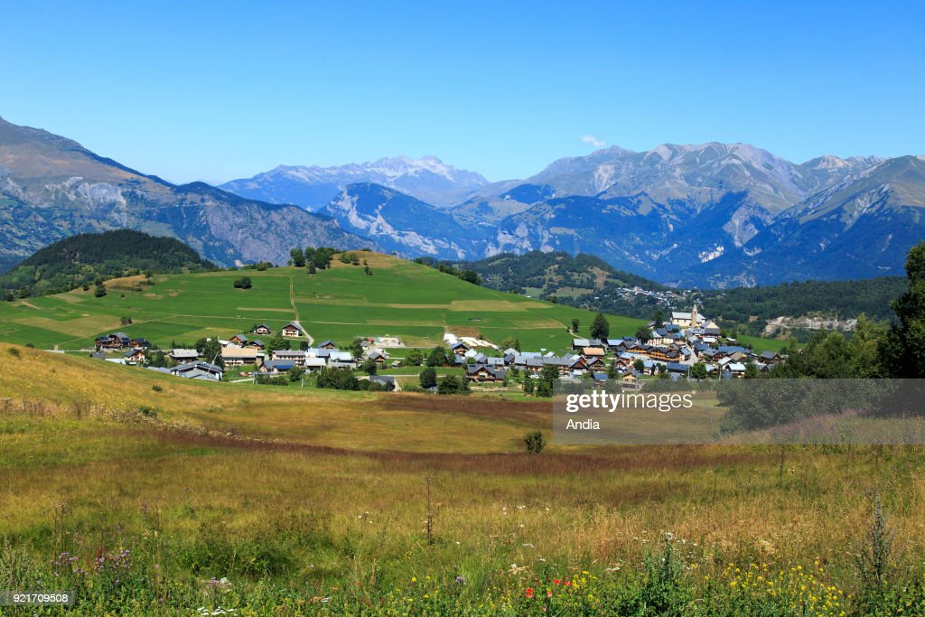 Village of Albiez-Montrond (Savoy, south-eastern France).