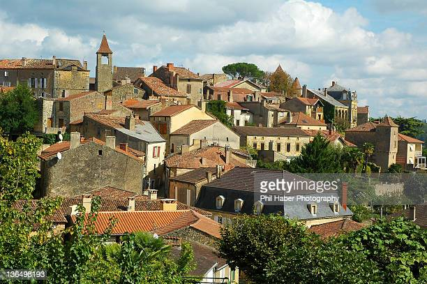 village of belvès - phil haber stock pictures, royalty-free photos & images