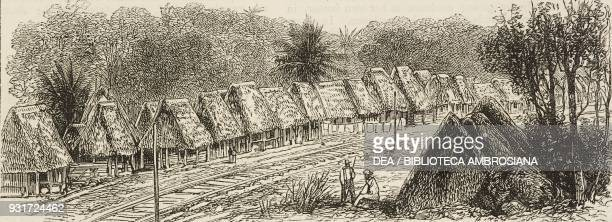 Village of Buena Vista along the Panama Railway the isthmus of Darien Panama illustration from the magazine The Graphic volume XV no 381 March 17 1877