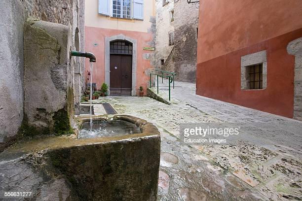 Village of Entrevaux Picturesque Lane Department 04 PACA or Provence Alpes Cote d'Azur Region South of France