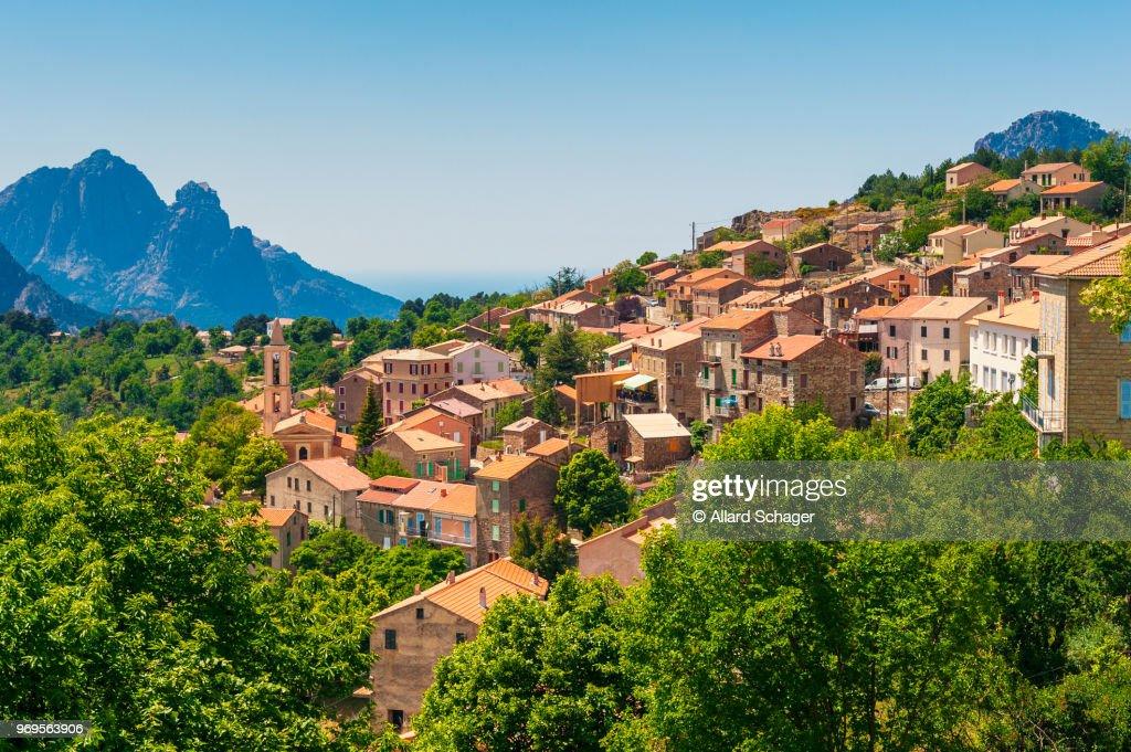 Village of Evisa Corsica : Stock Photo