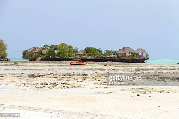 Village of fishermen at low tide
