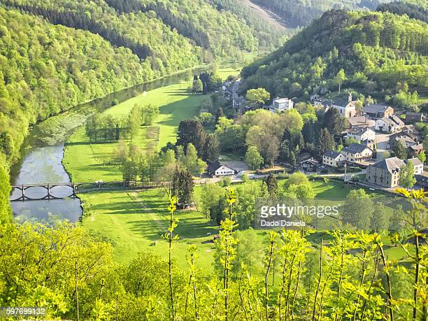 village of frahan - ardennes department france stock photos and pictures