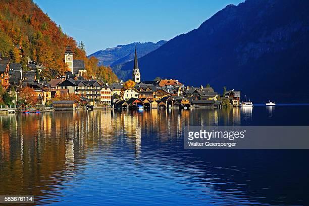 Village of Hallstatt in Austria