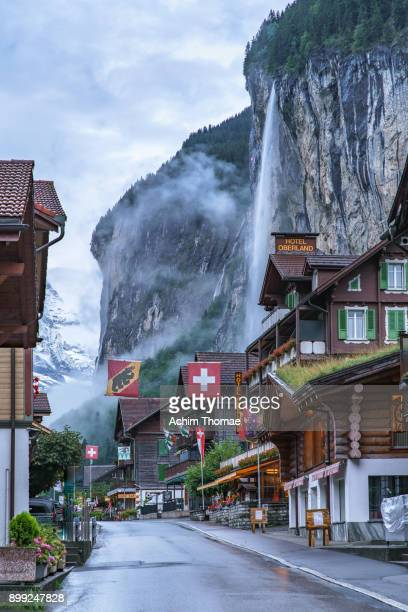 Village of Lauterbrunnen, Switzerland, Europe