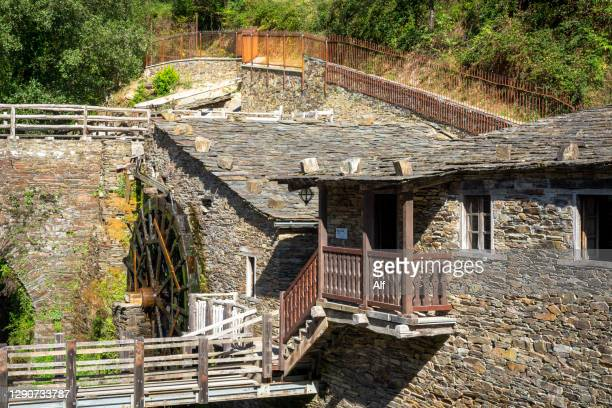 village of mazonovo in taramundi, asturias, spain - percussion mallet stock pictures, royalty-free photos & images