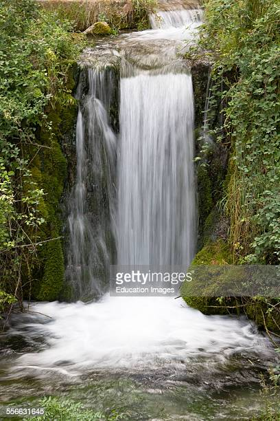 Village of Moustiers St Marie Waterfall Department 04 PACA or Provence Alpes Cote d'Azur Region South of France