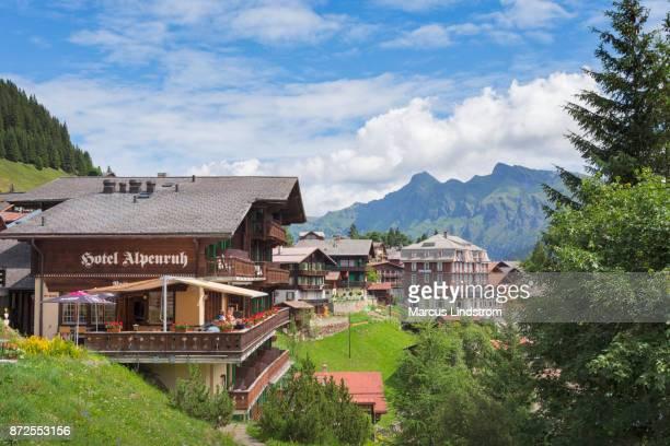 Village of Mürren in Switzerland