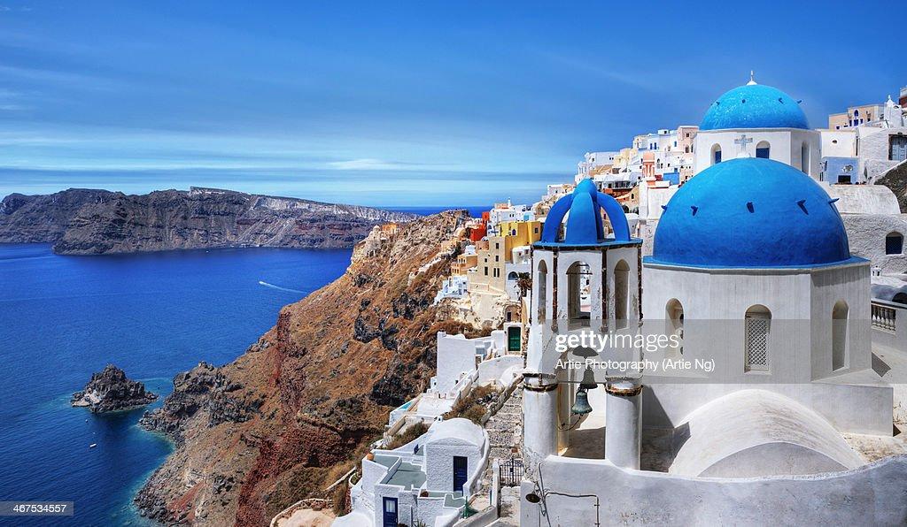 Village of Oia in Santorini, Greece : Foto de stock